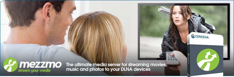 Mezzmo. The ultimate DLNA media server for streaming movies, music and photos to your UPnP and DLNA devices.