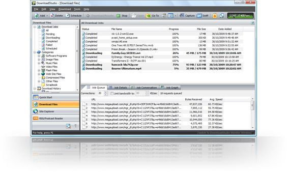 DownloadStudio - Internet Download Manager And Download Accelerator