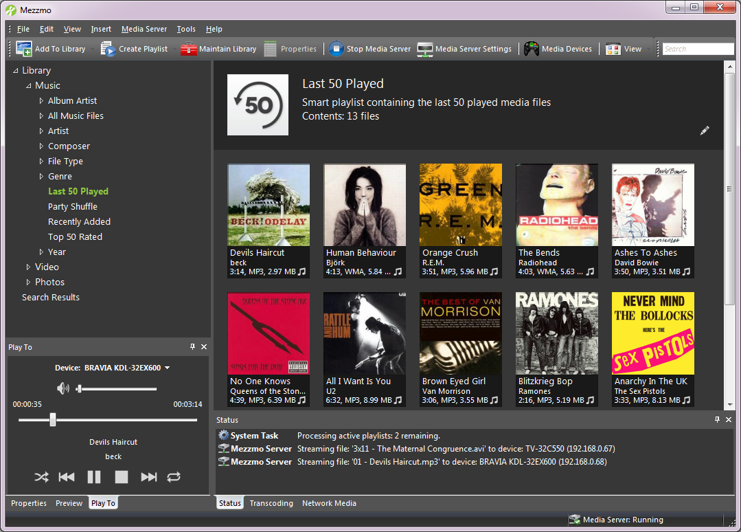Mezzmo Media Server - Screenshots